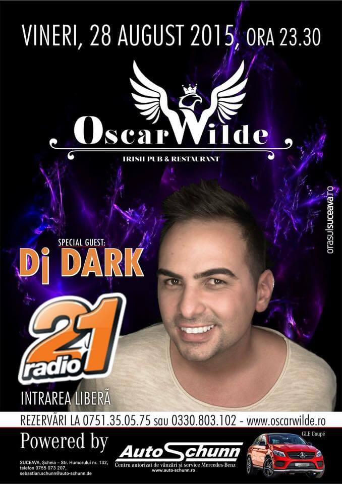Dj Dark @ Oscar Wilde Pub (28 August)